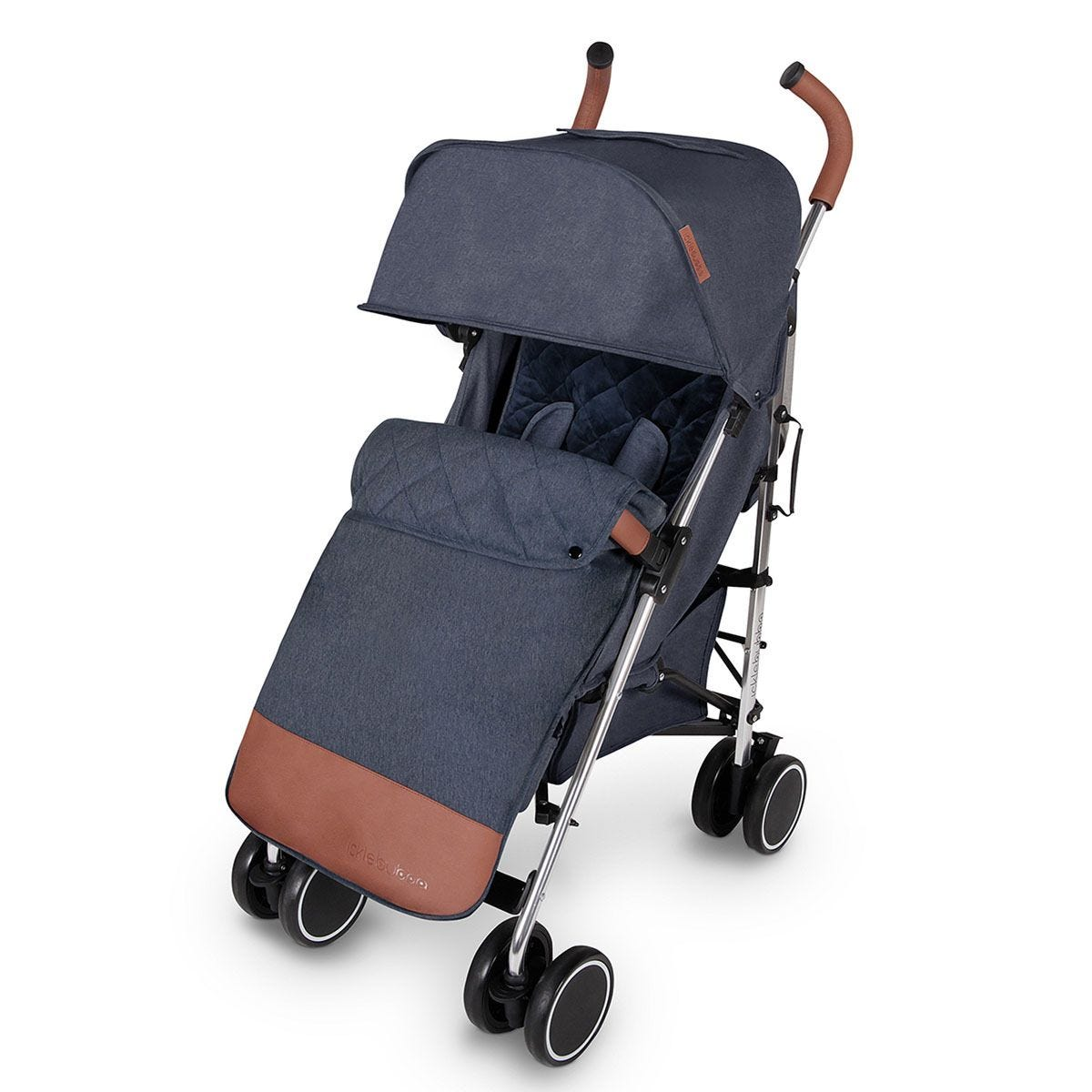 Ickle Bubba Discovery Max Stroller - Denim Blue on Silver