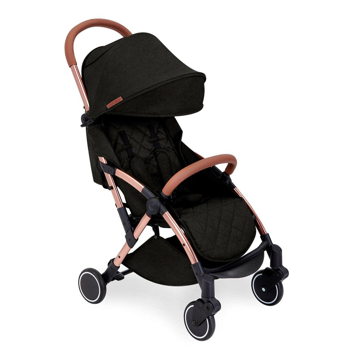 Ickle Bubba Globe Stroller - Black on Rose Gold
