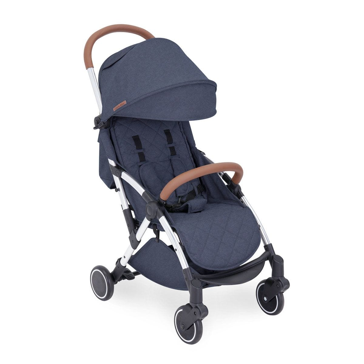 Ickle Bubba Globe Stroller - Denim Blue on Silver