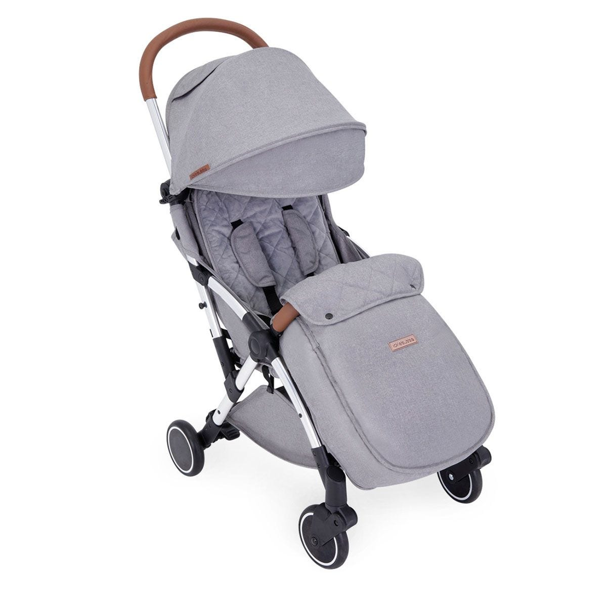 Ickle Bubba Globe Max Stroller - Grey on Silver