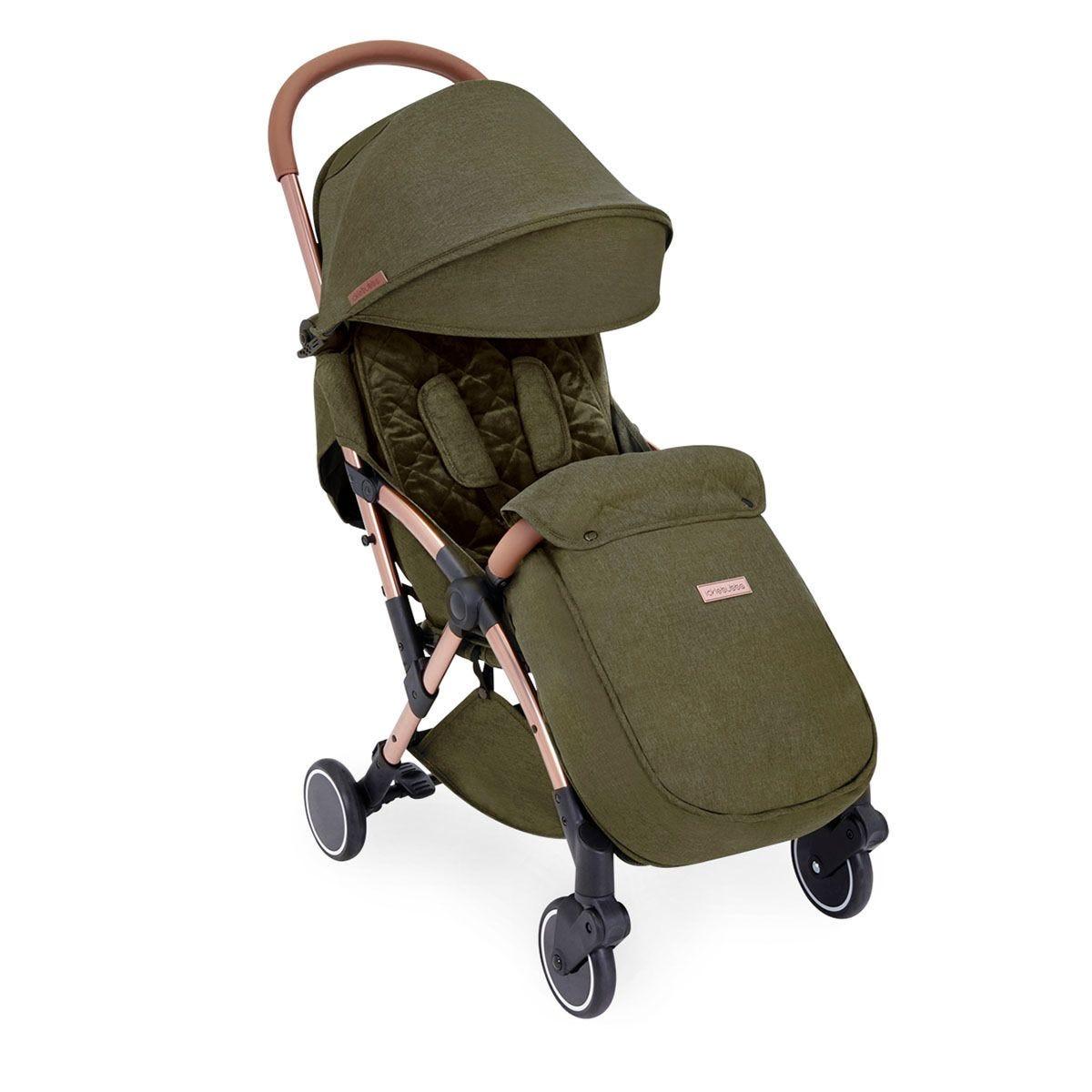 Ickle Bubba Globe Prime Stroller - Khaki on Rose Gold