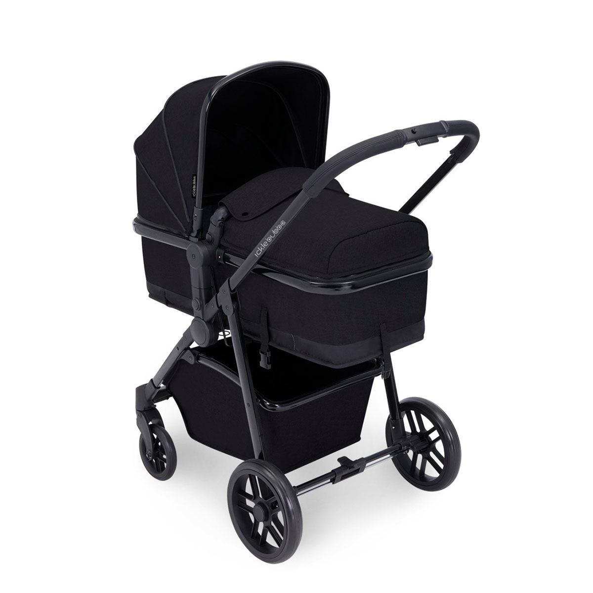Ickle Bubba Moon 3 in 1 Travel System - Black on Black with Black Handles