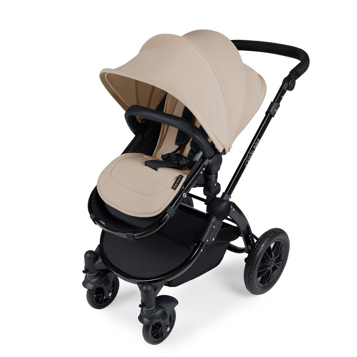 Ickle Bubba Stomp V3 i-Size Travel System with Isofix Base - Sand on Black with Black Handles
