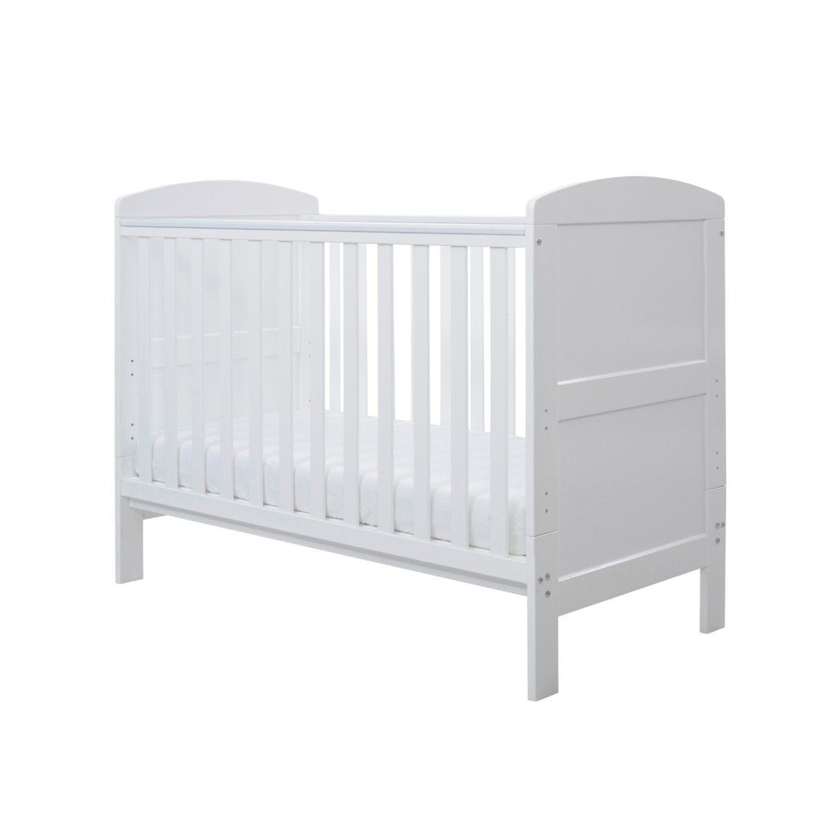 Ickle Bubba Coleby Mini Cot Bed and Pocket Sprung Mattress White