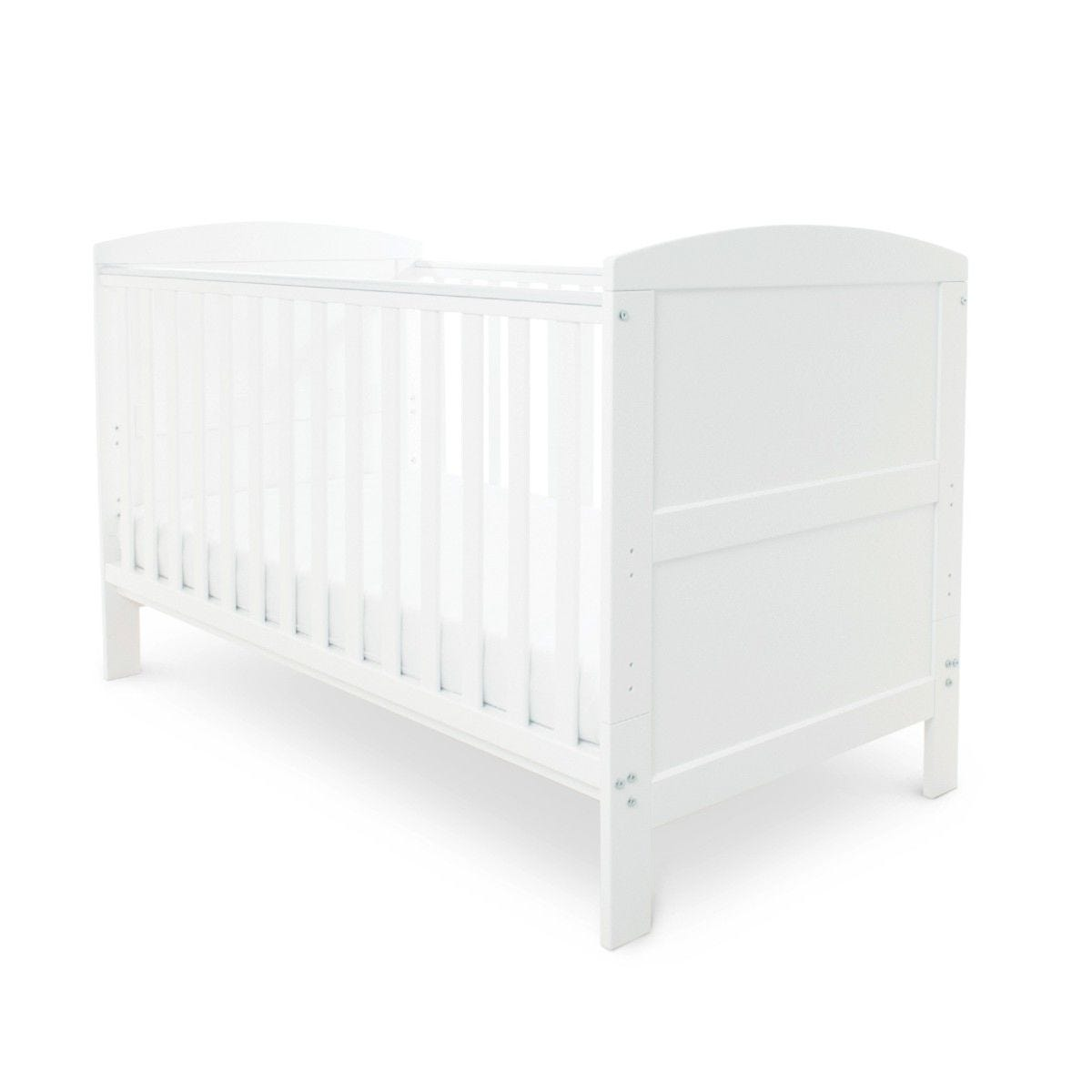 Ickle Bubba Coleby Classic Cot Bed and Sprung Mattress White
