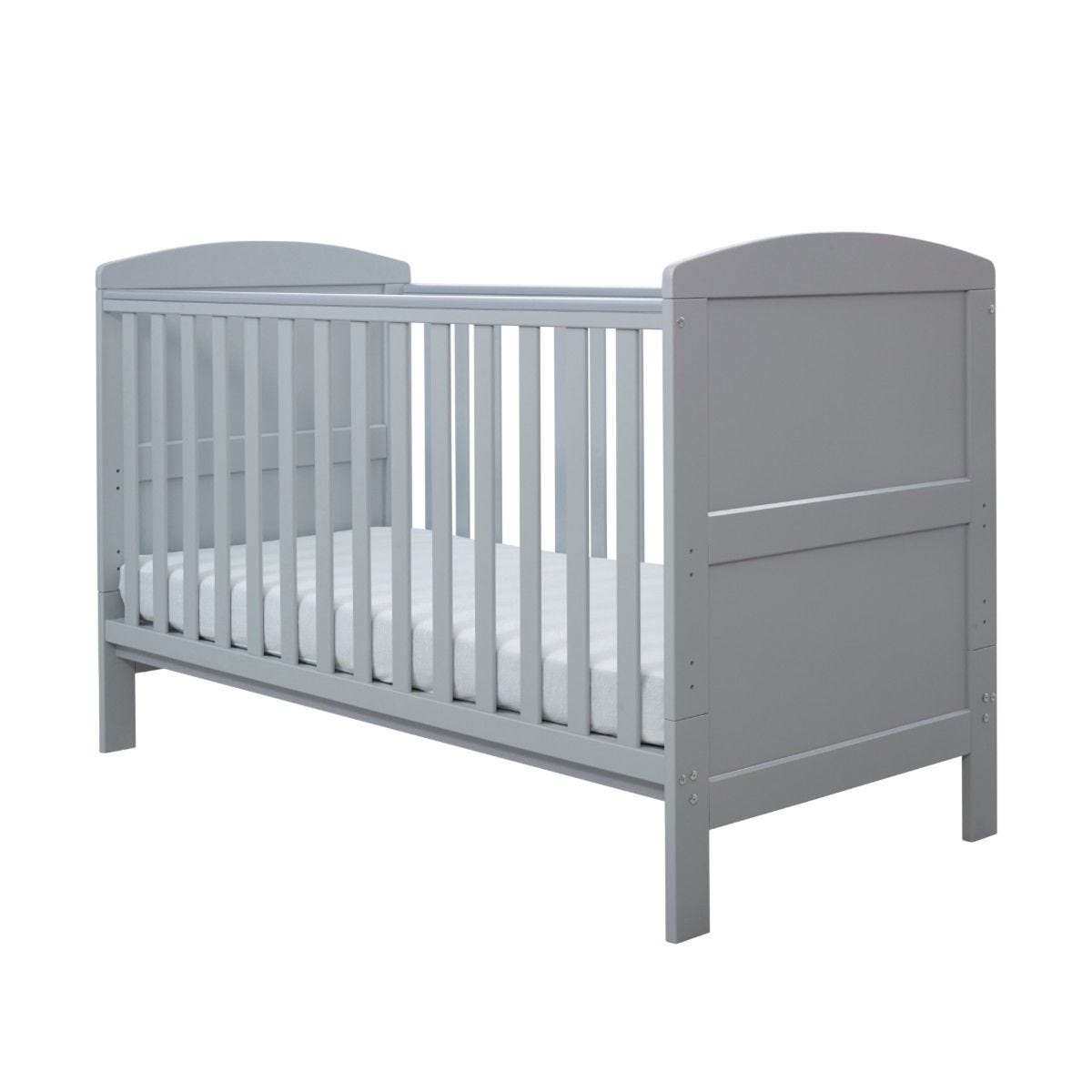 Ickle Bubba Coleby Classic Cot Bed and Sprung Mattress Grey