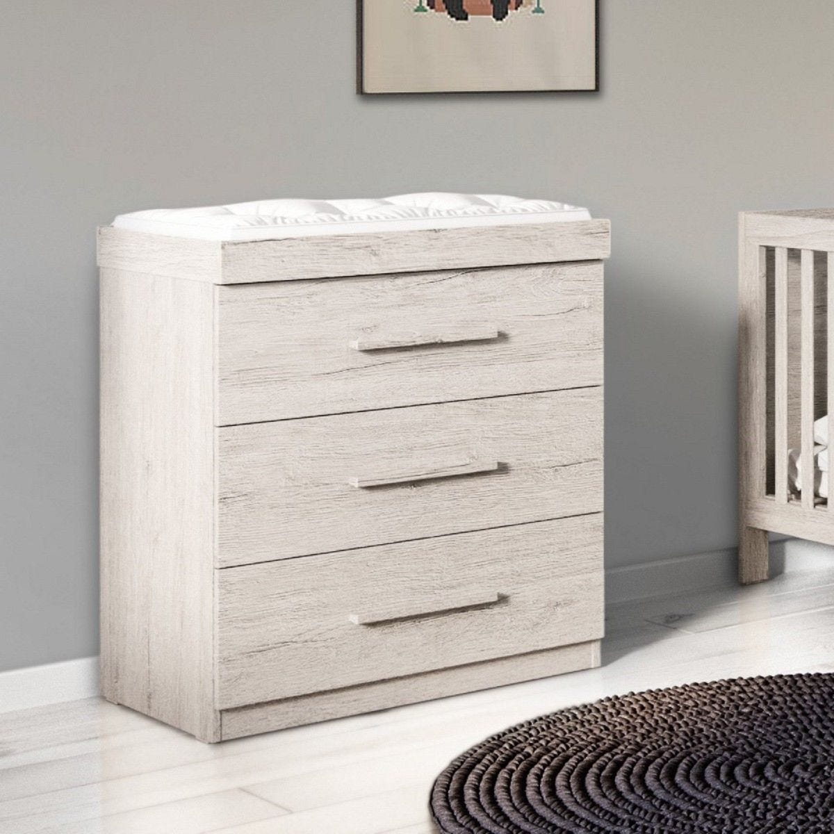 Ickle Bubba Grantham Chest of Drawers Changer Grey Oak
