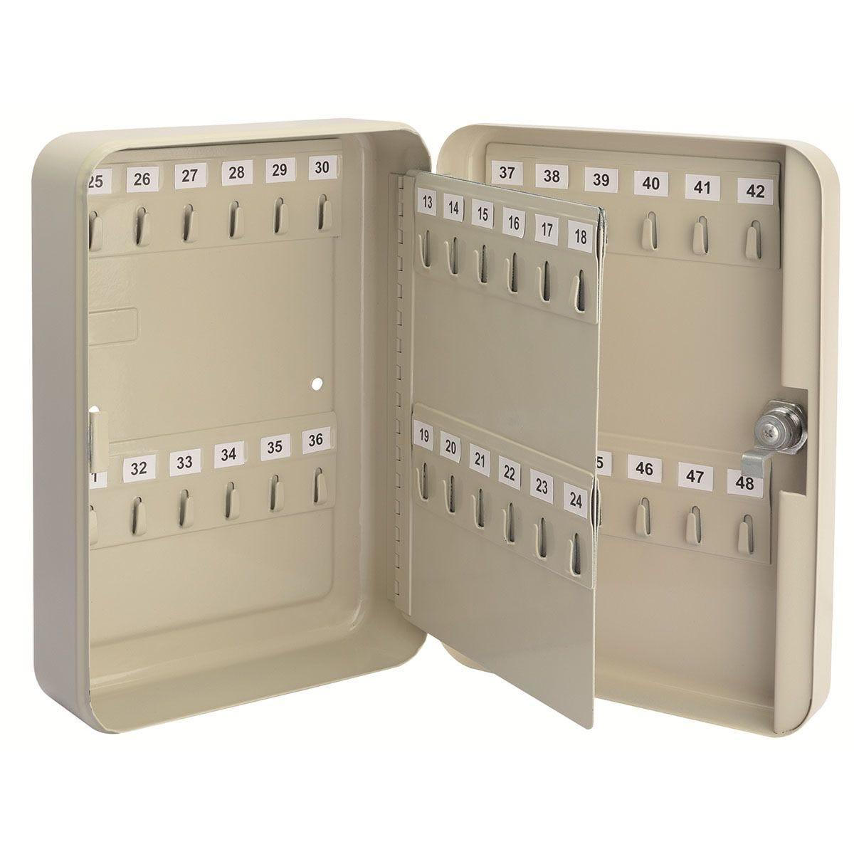 Draper 48 Hooks Key Cabinet - Cream