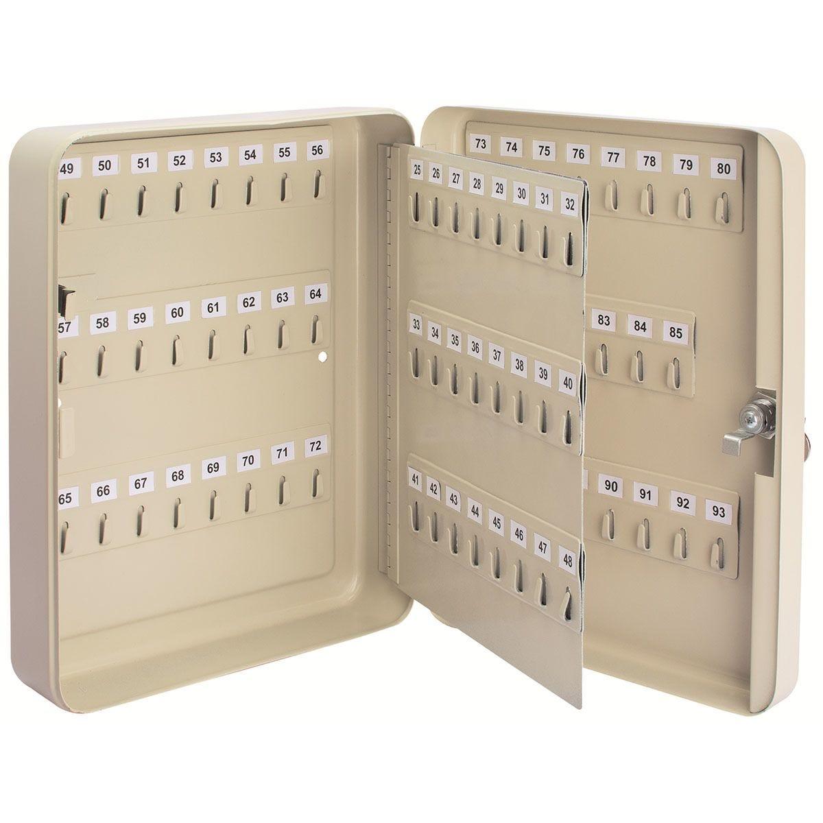 Draper 93 Hooks Key Cabinet - Cream