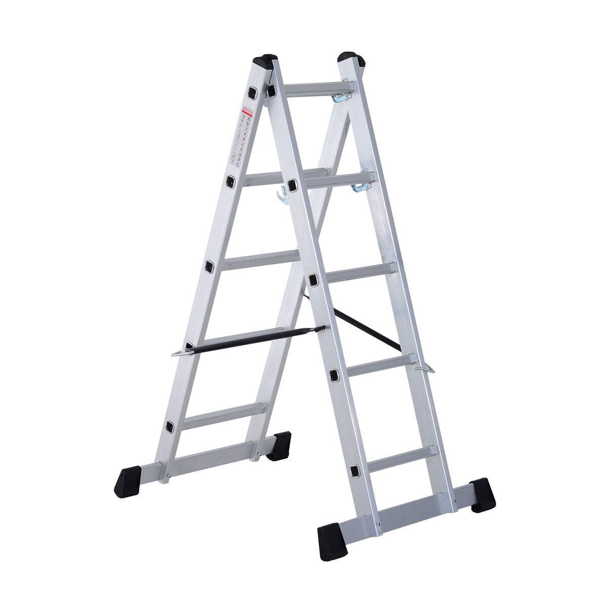 HOMCOM Aluminium Scaffolding Ladder Multi Combination Multi-Purpose Step Scaffold