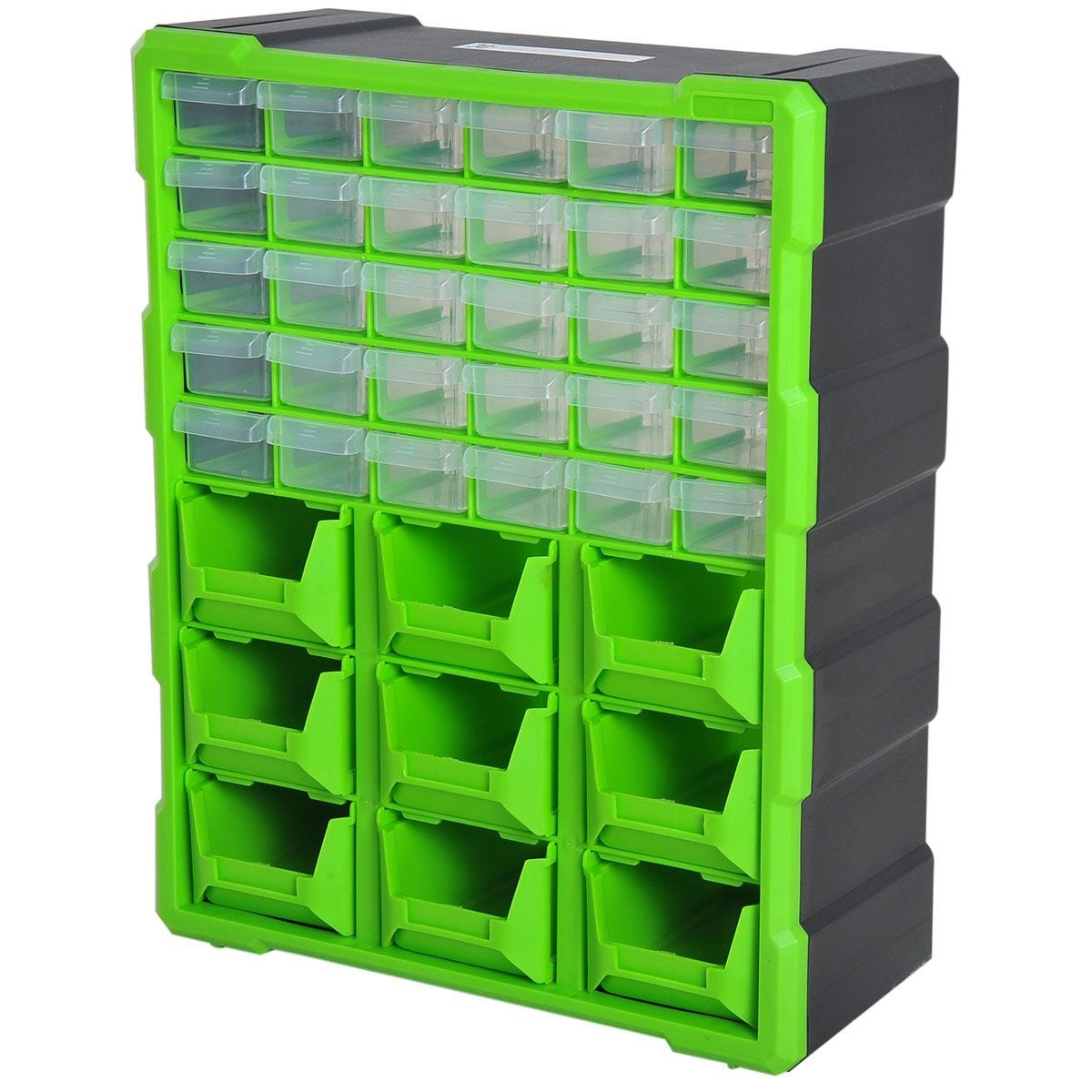 Durhand 39 Drawer Parts Organiser Wall Mount Storage Cabinet - Green