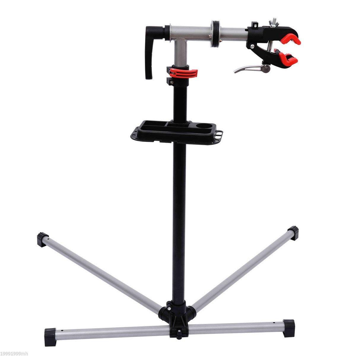 HOMCOM Adjustable Bicycle Repair Stand- Silvery Grey