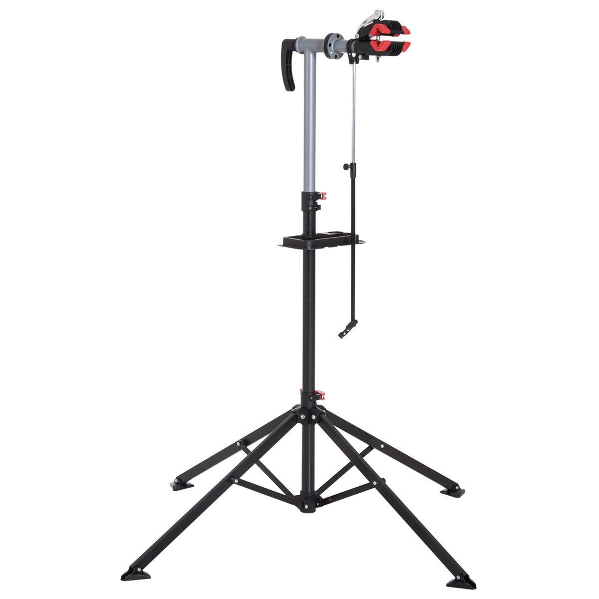 HOMCOM Adjustable Bicycle Repair Stand - Black