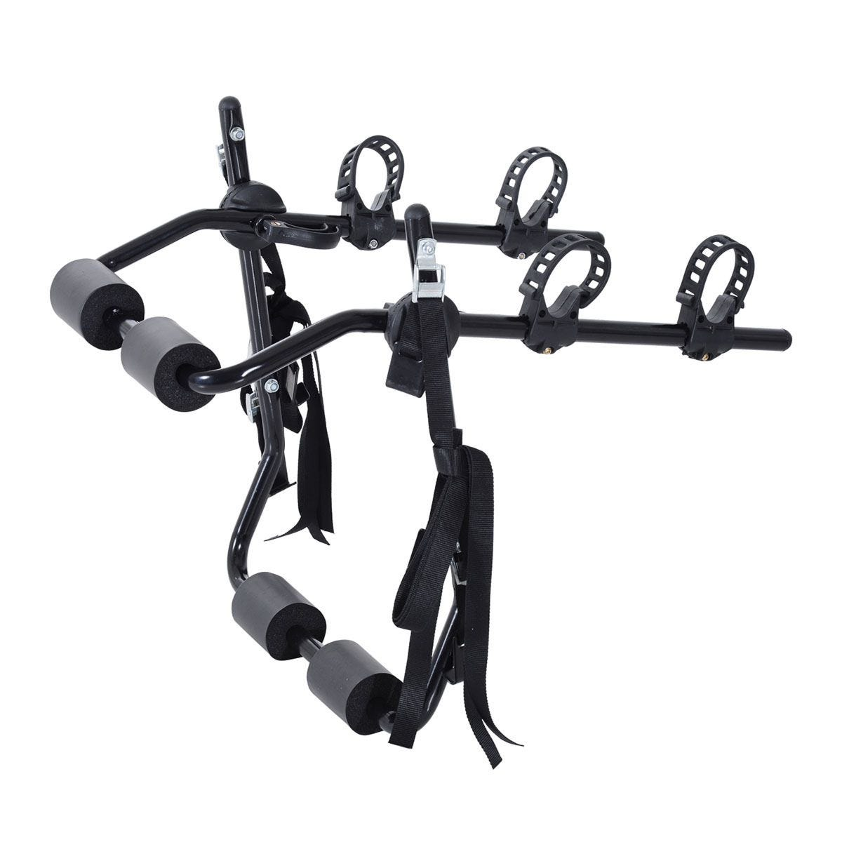 Outsunny 2 Bike Rack Transport Mountain with Fix Strap - Black