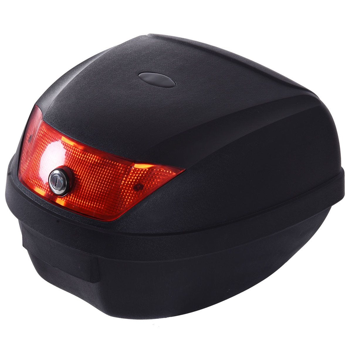 HOMCOM 28L Motorcycle Tail Box with 2 Keys - Black & Red