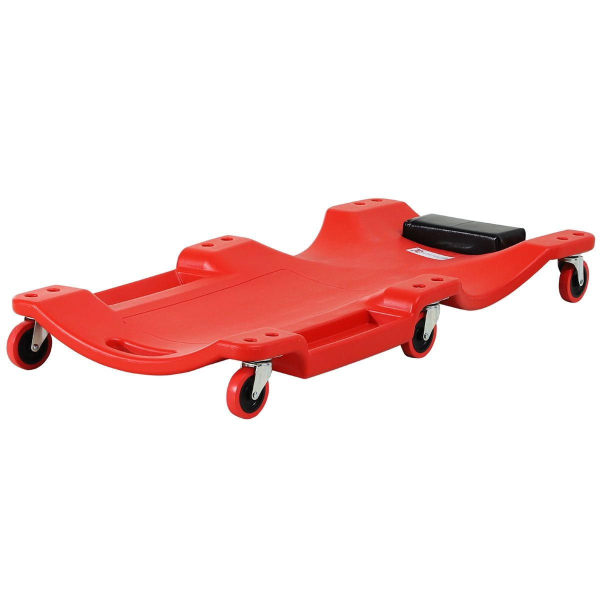 Durhand Mechanic Vehicle Creeper with Wheels under Car Repair Portable Headrest Tray - Red
