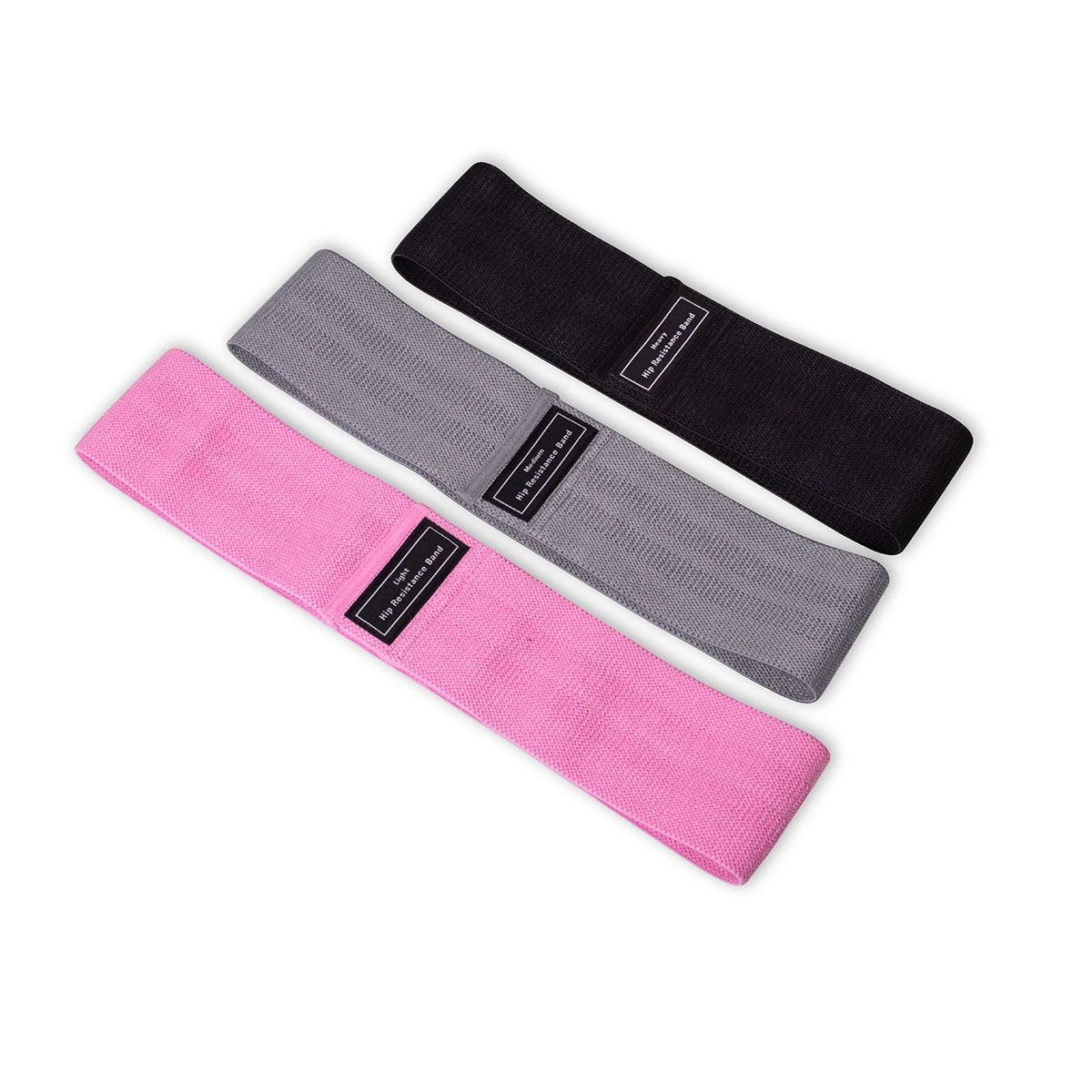 The Gym Sessions Fabric Resistance Bands -  Pack of 3
