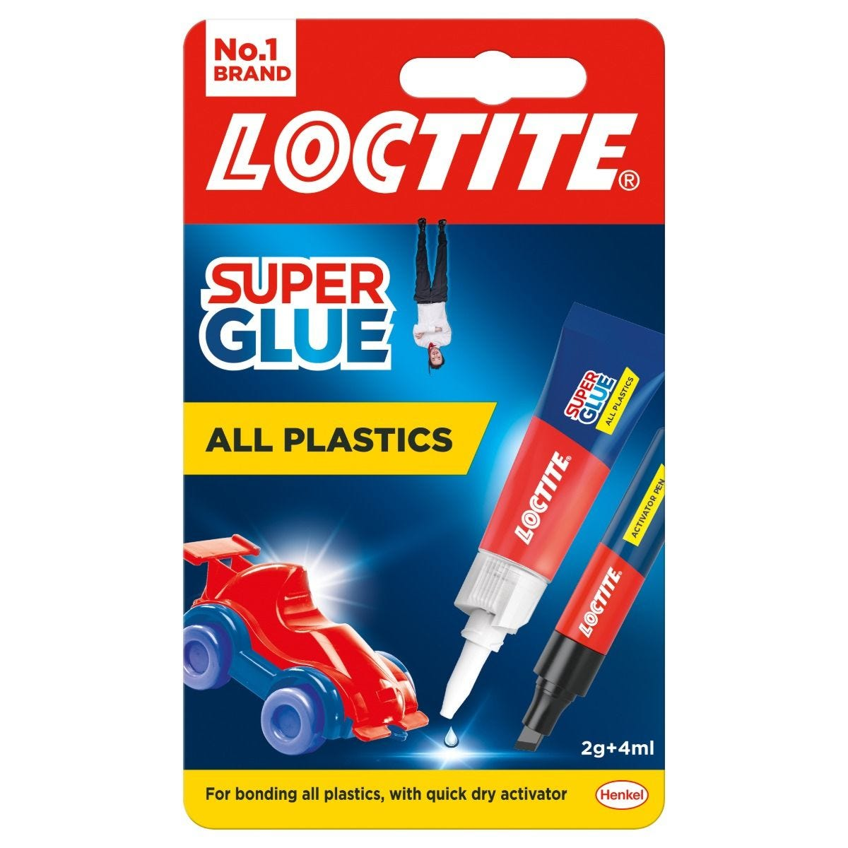 Loctite Super Glue All Plastics 2g & 4ml