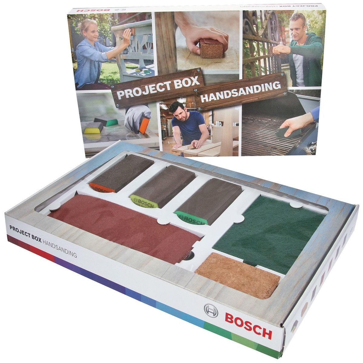 Bosch 15 Piece Hand Sanding Project Box - Green