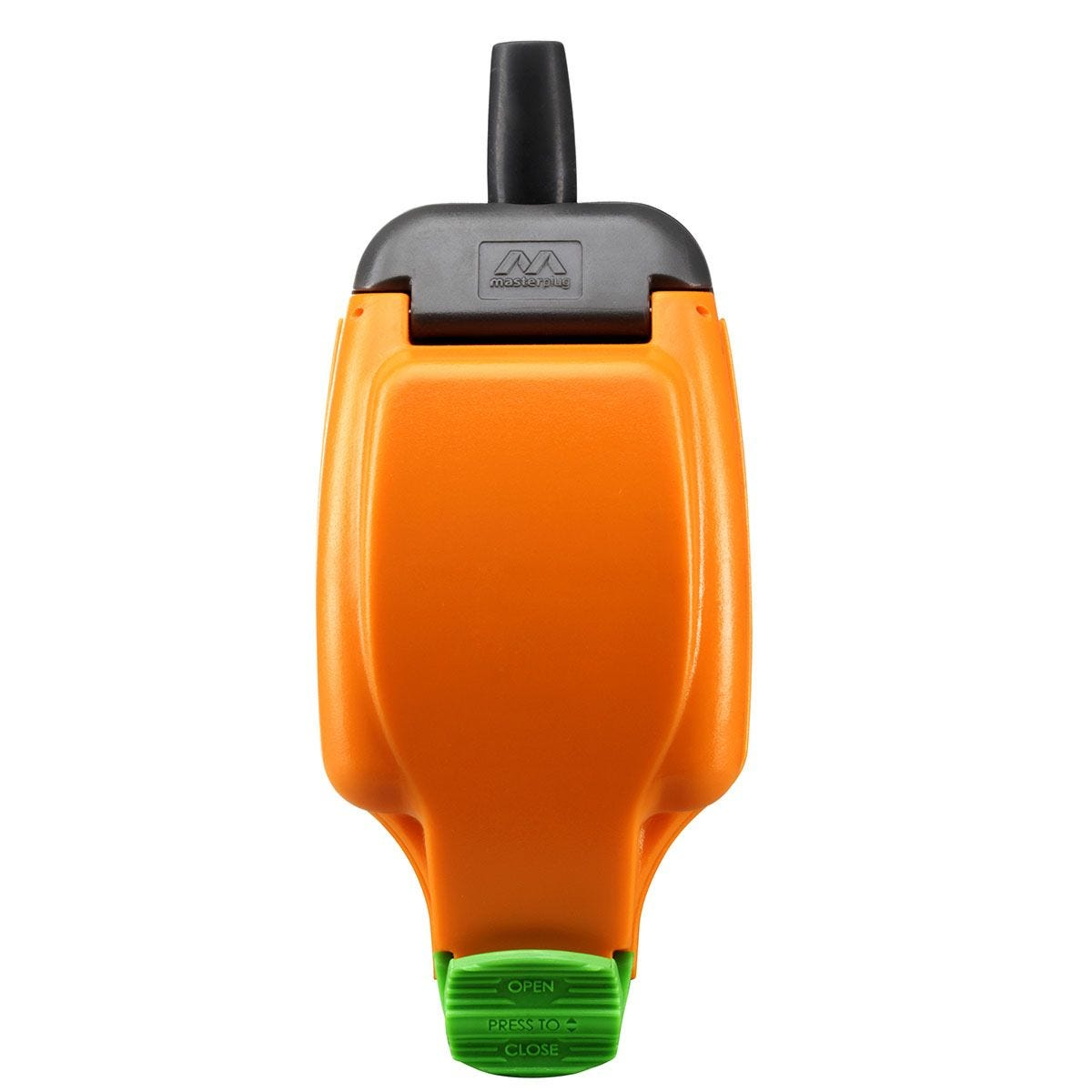 Masterplug 1 Socket 13 Amp Weatherproof In Line Socket - Orange & Black