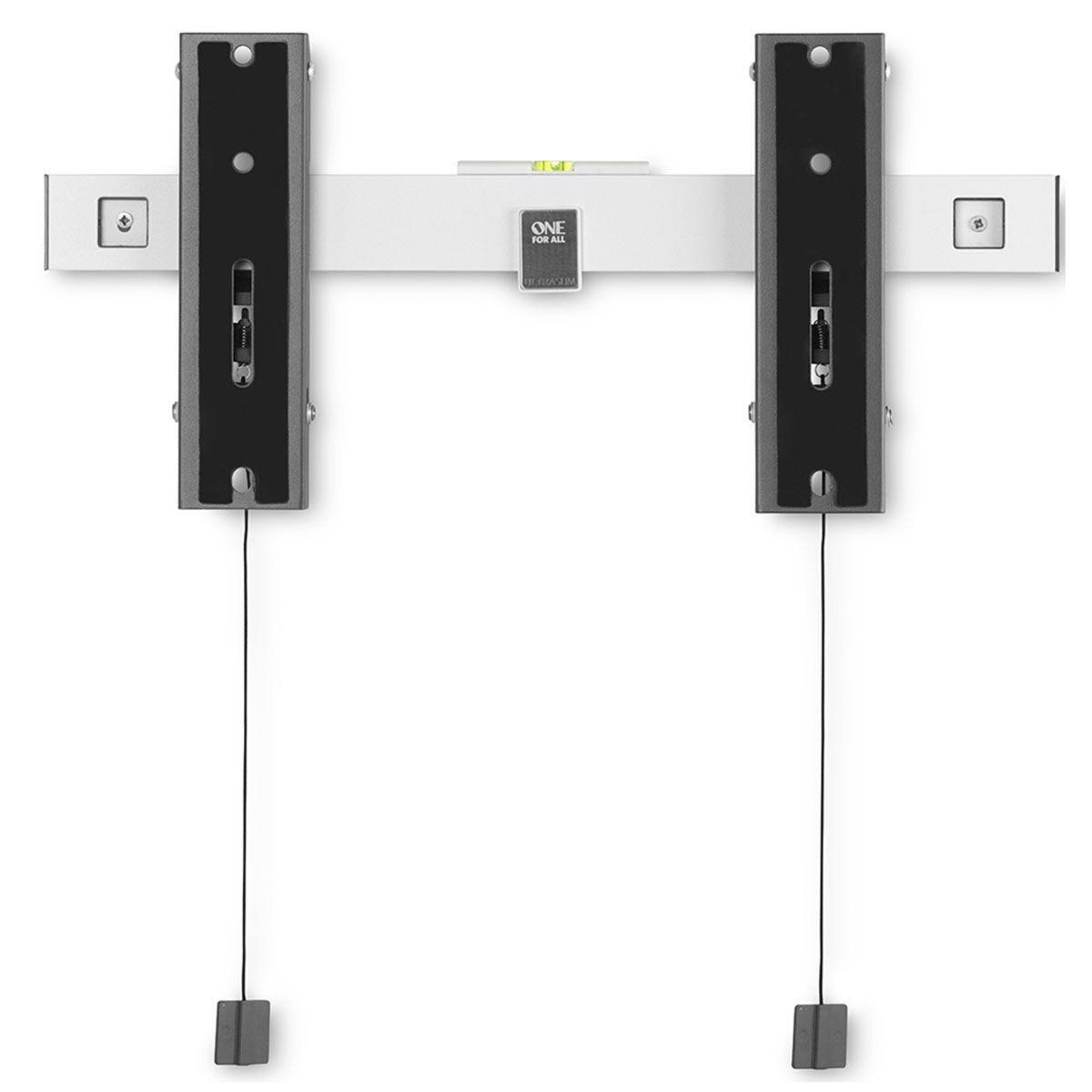 One For All Ultra-Slim Tilt TV Bracket for OLED up to 77inch - Black & Silver
