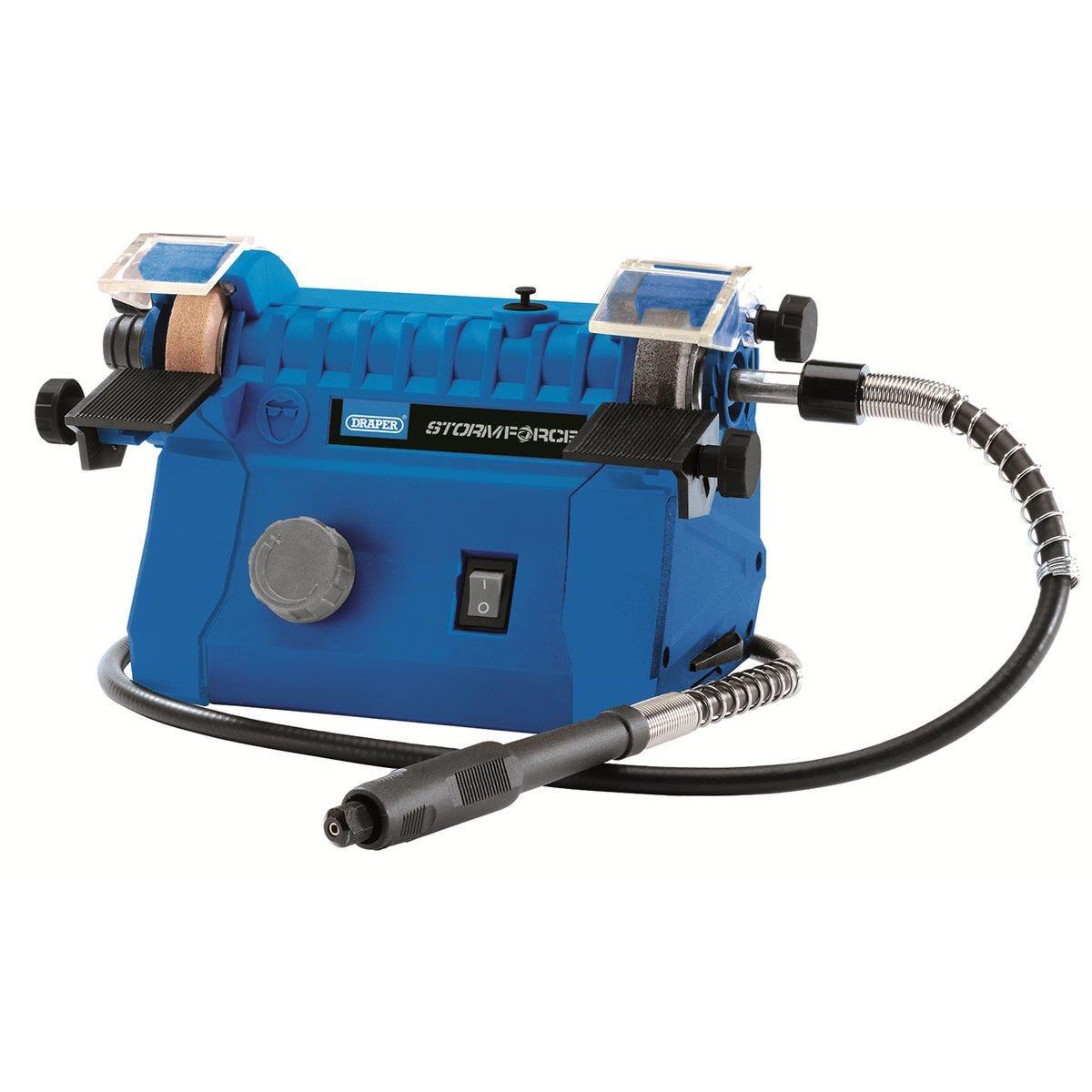 Draper Storm Force® 50mm Mini Bench Grinder (100W) - Blue