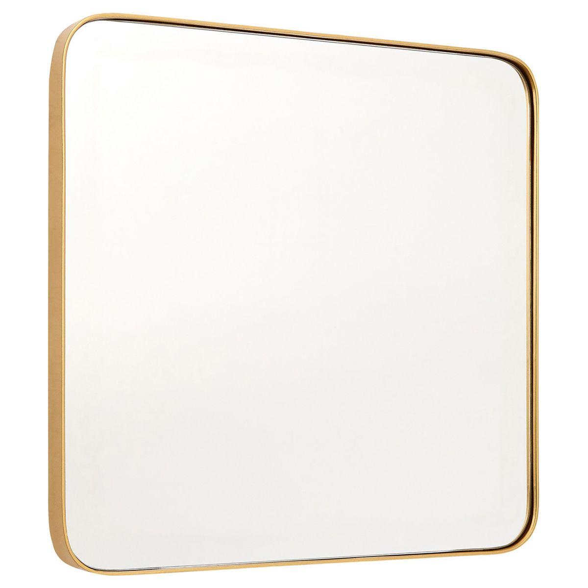 Small Square Wall Mirror - Gold Finish