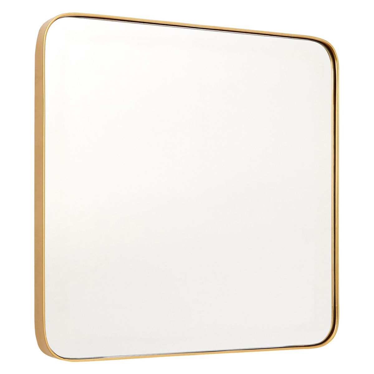 Medium Square Wall Mirror - Gold Finish