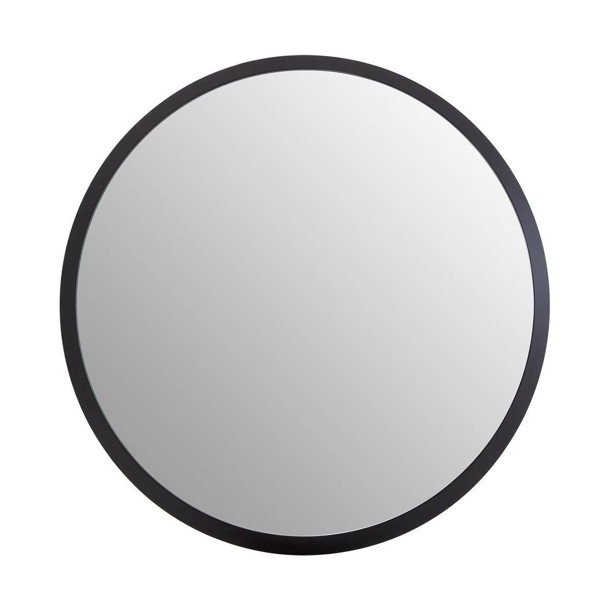 Round Wall Mirror in Black - Small