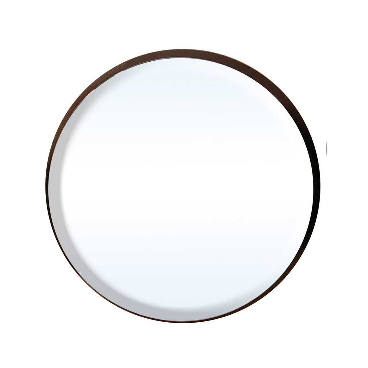 Discus Round Wall Mirror in Black - Medium