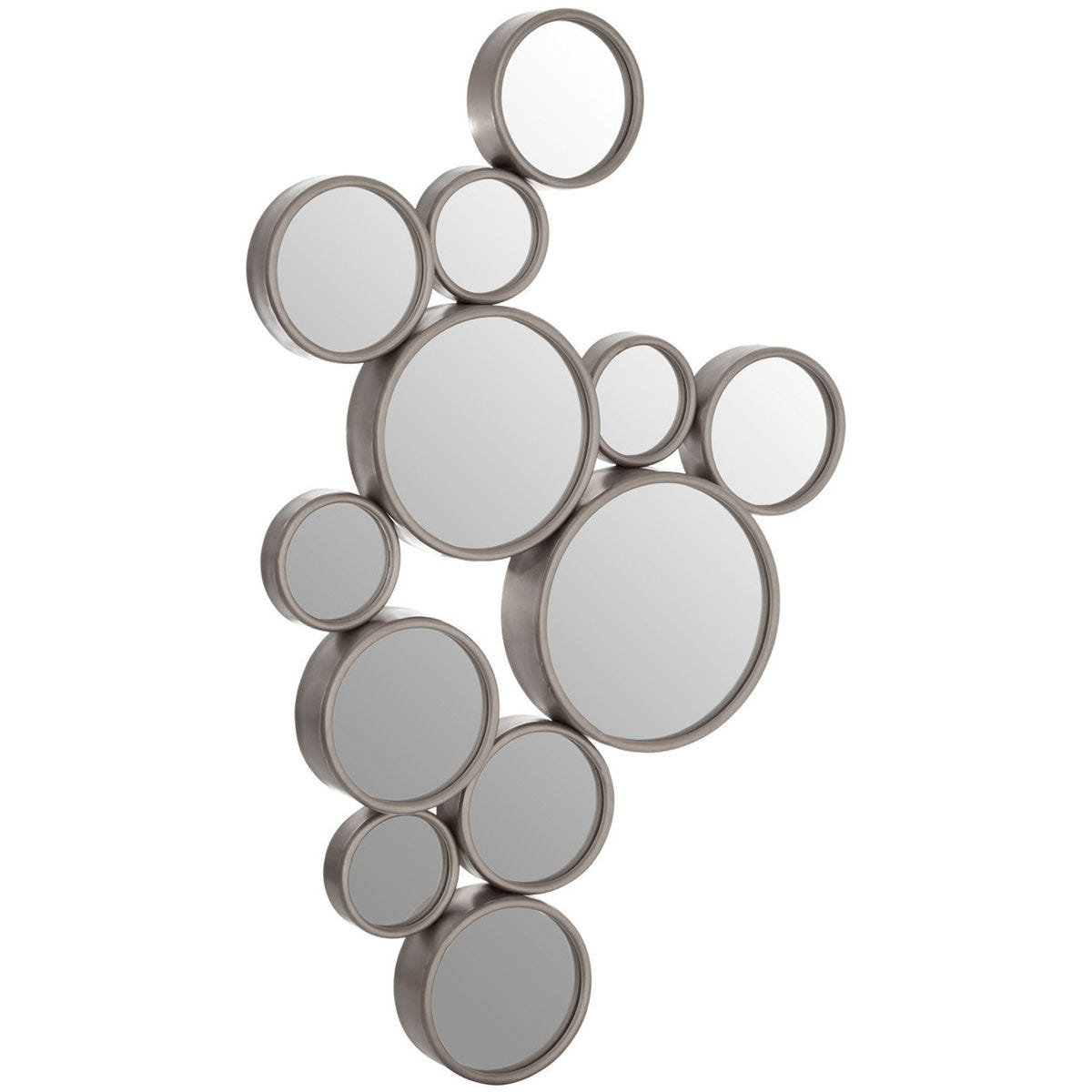 Wall Mirror Silver Finish Frame - Small