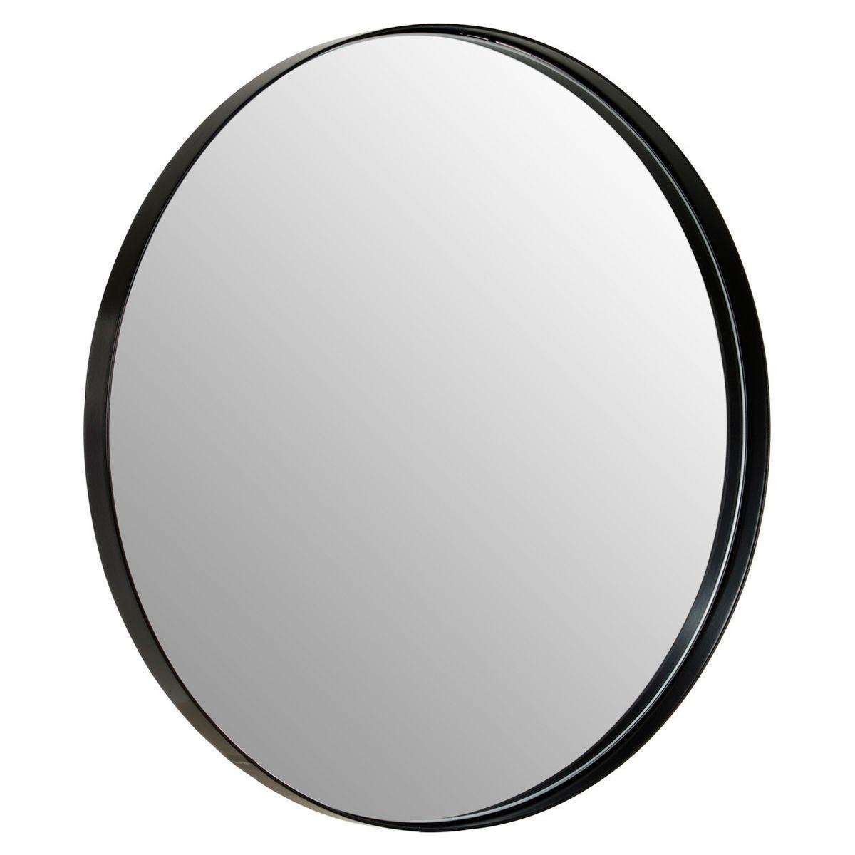 Wall Mirror in Matte Black - Medium