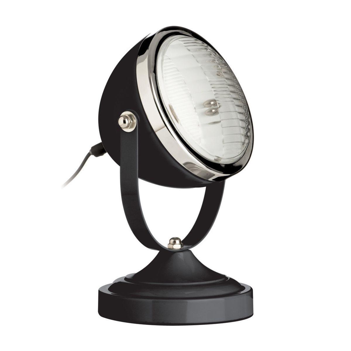 Table Lamp - Black/Chrome Finish