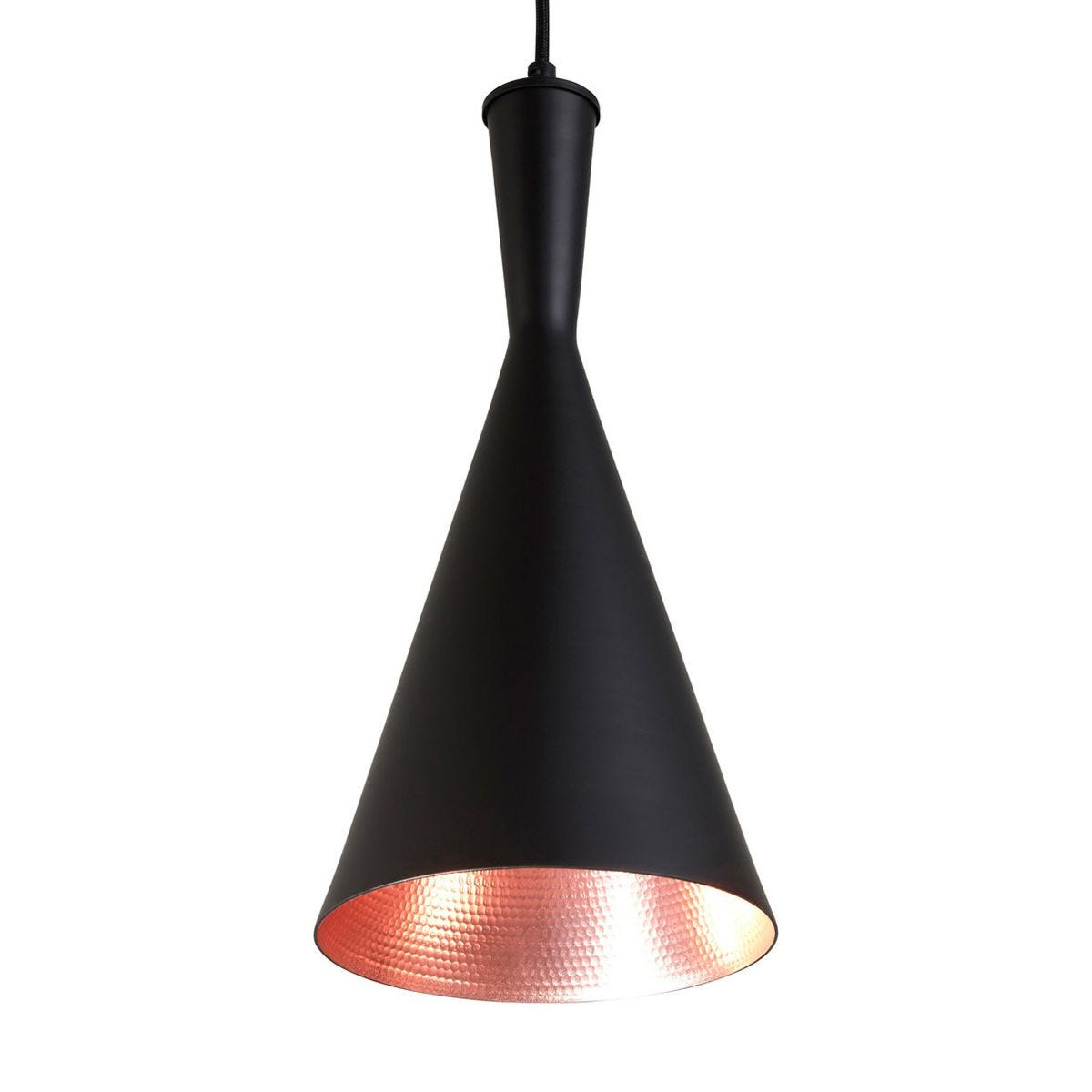 Pendant Light - Black/Gold Inner