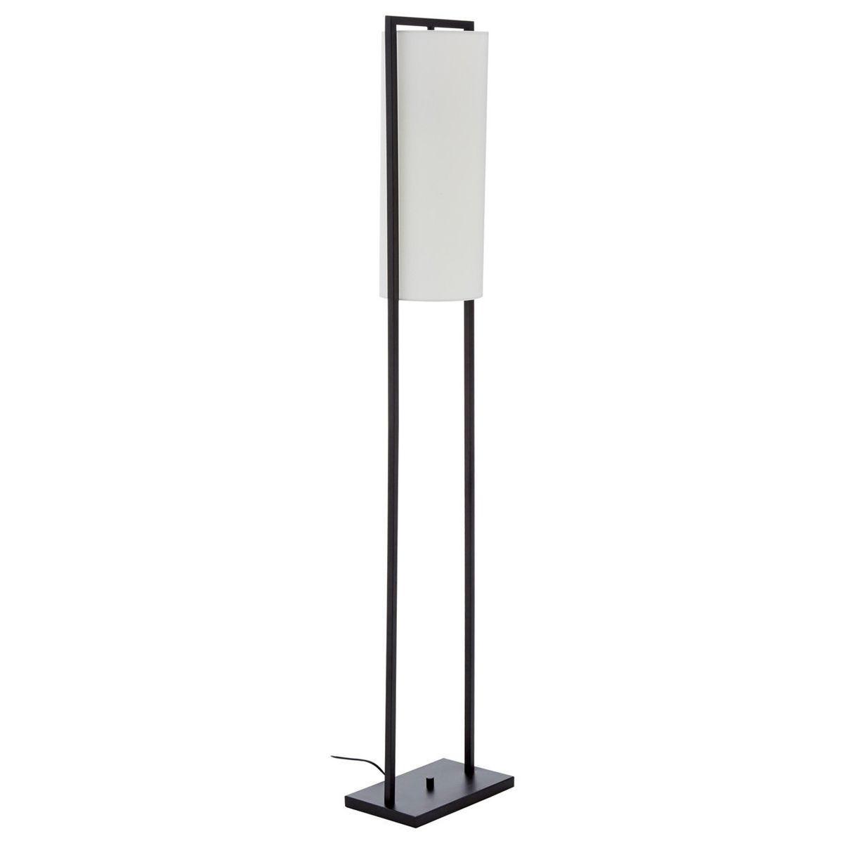 Floor Lamp - Black Base/White Linen Shade