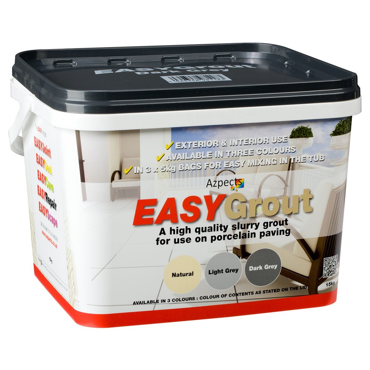 Azpects EASY Grout Dark Grey - 15Kg