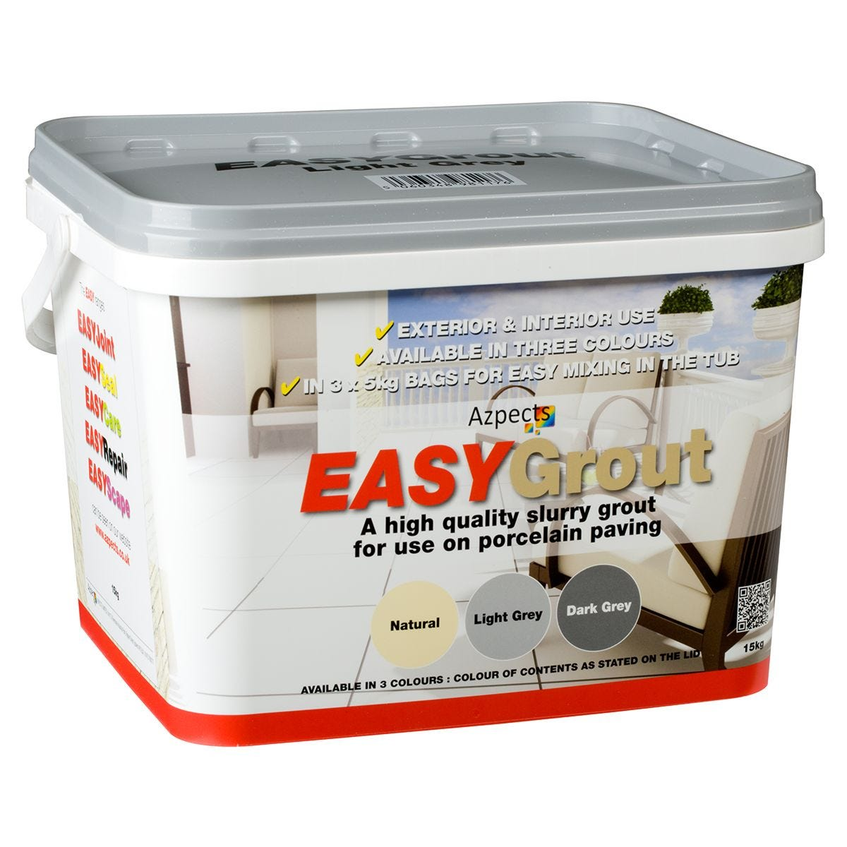Azpects EASY Grout Light Grey - 15kg