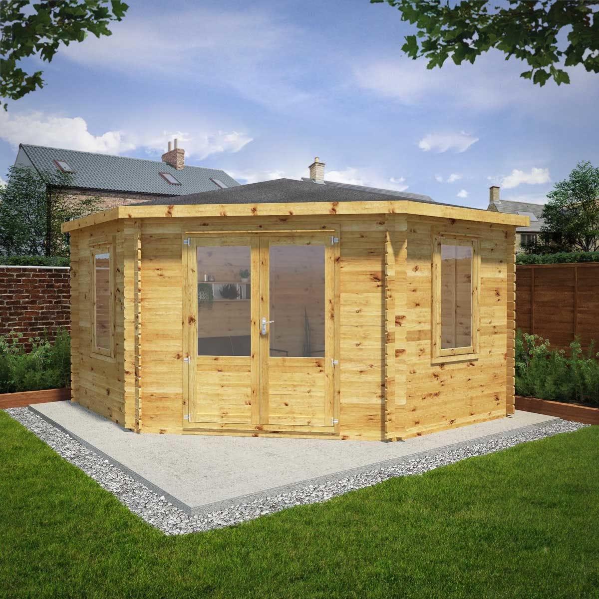 Mercia 4m x 4m 28mm Wall Corner Cabin
