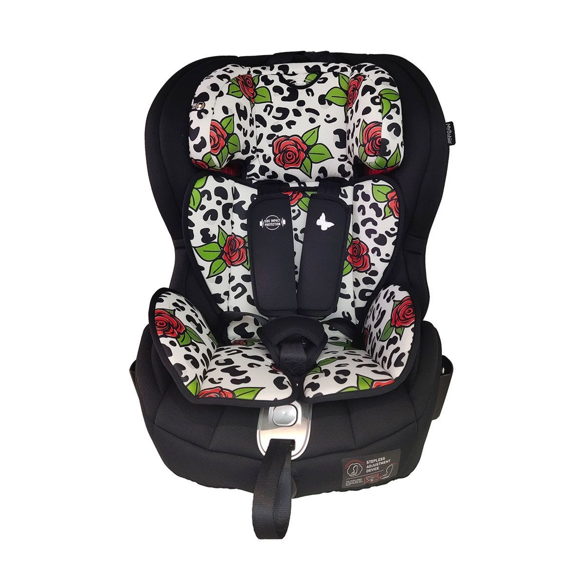 My Babiie Katie Piper Believe Group 1 2 3  Isofix Car Seat - Rose Leopard