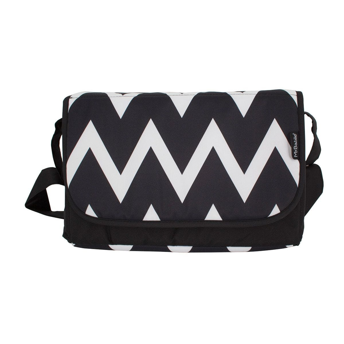 My Babiie Changing Bag - Black and White Chevron