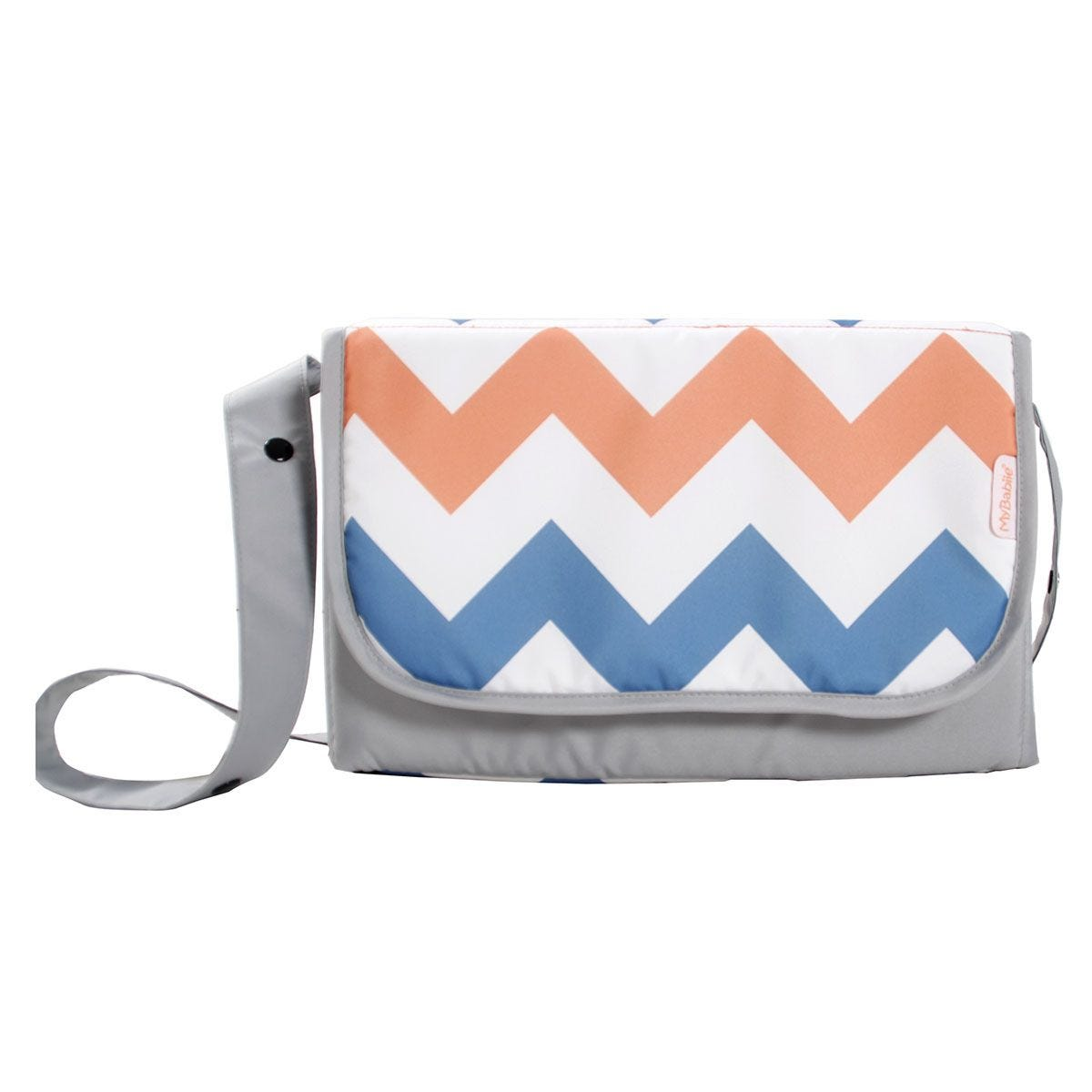 My Babiie Changing Bag - Coral Chevron