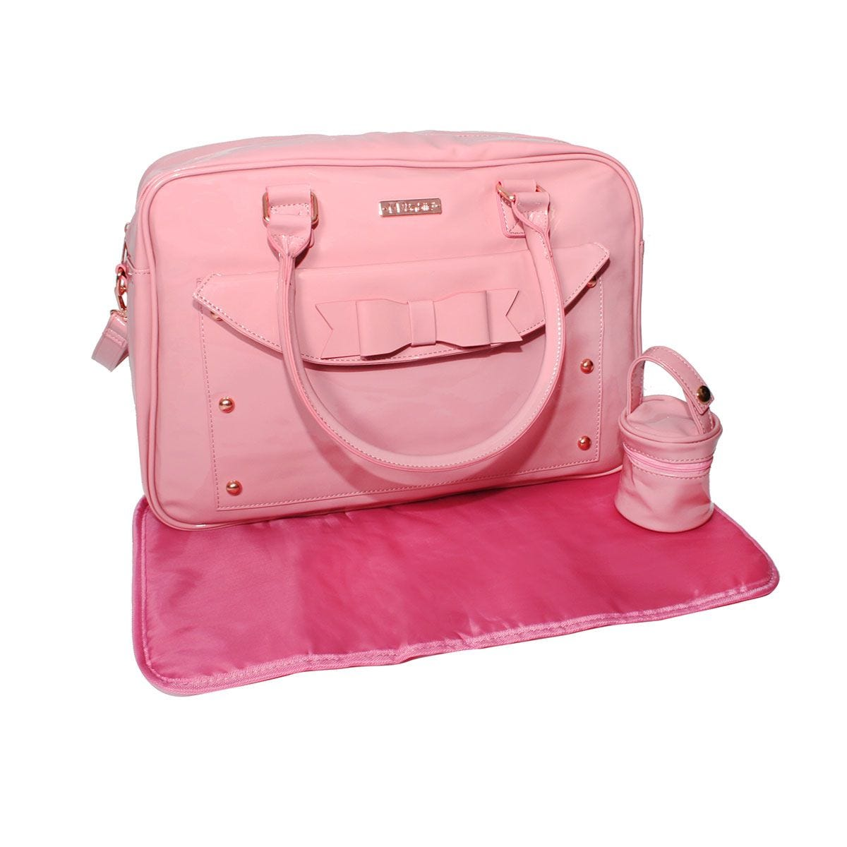 My Babiie Billie Faiers Patent Changing Bag - Pink