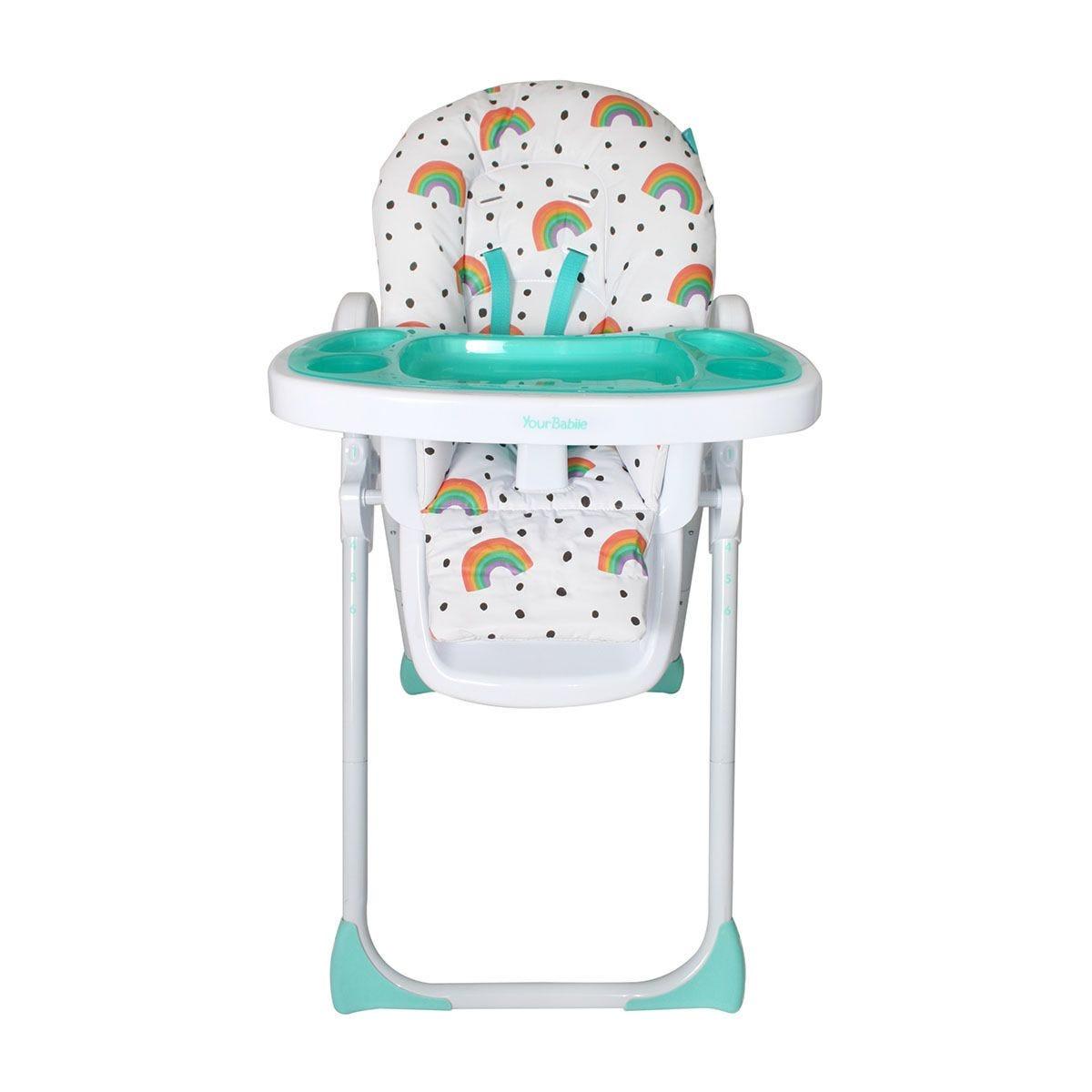 My Babiie Rainbow Premium Highchair - Multi