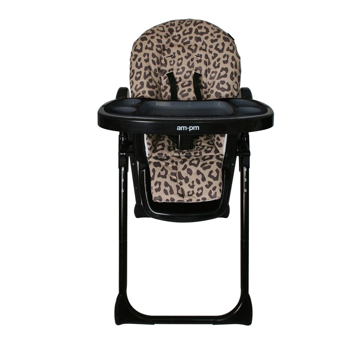 My Babiie Christina Milian AMPM Leopard Premium Highchair - Black