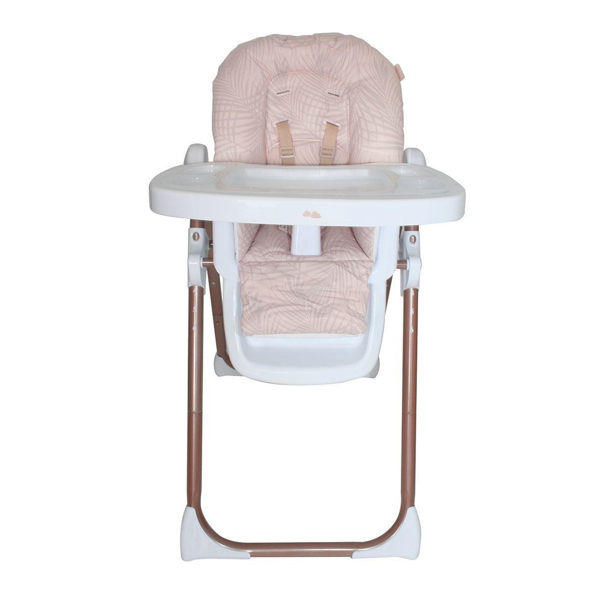 My Babiie Samantha Faiers Premium Highchair - Rose Gold Blush Tropical