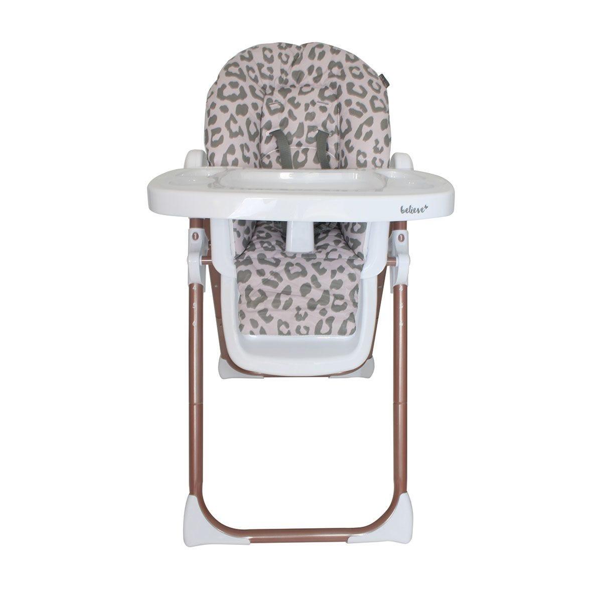My Babiie Katie Piper Premium Highchair - Blush Leopard