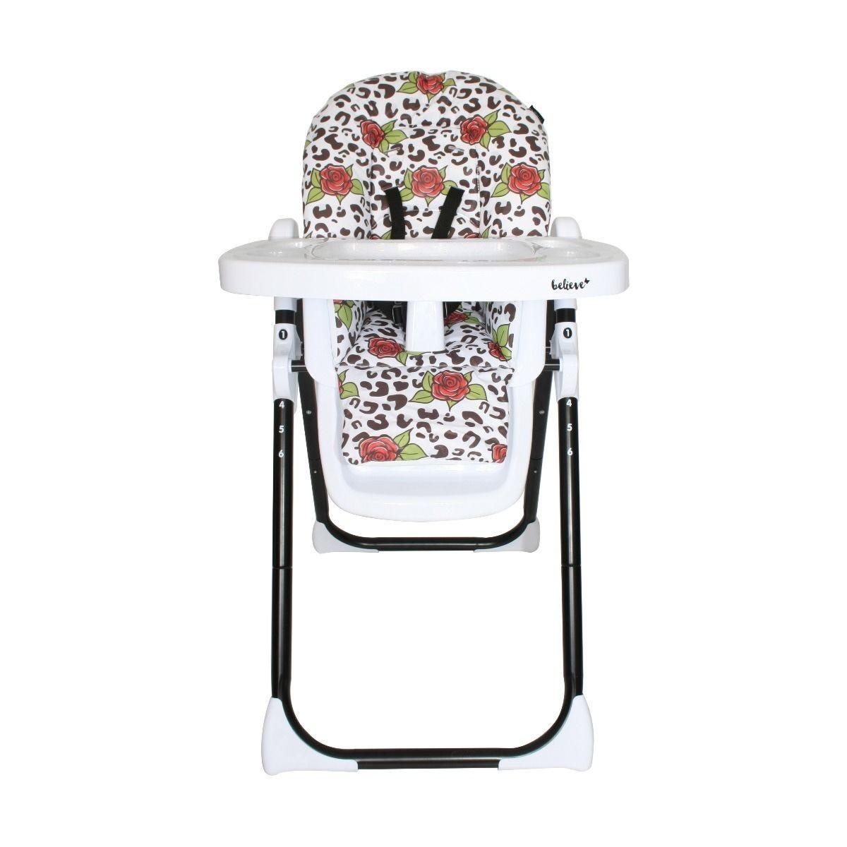 My Babiie Katie Piper Premium Highchair - Rose Leopard