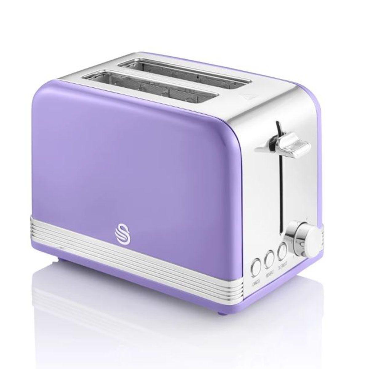 Swan ST19010PURN 815W 2 Slice Retro Toaster - Purple