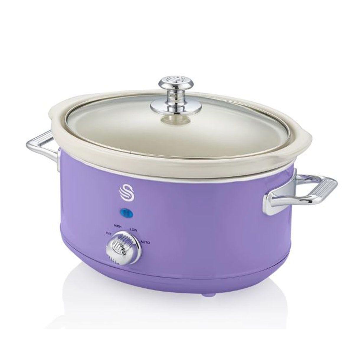 Swan SF17021PURN 3.5L Slow Cooker Retro - Purple