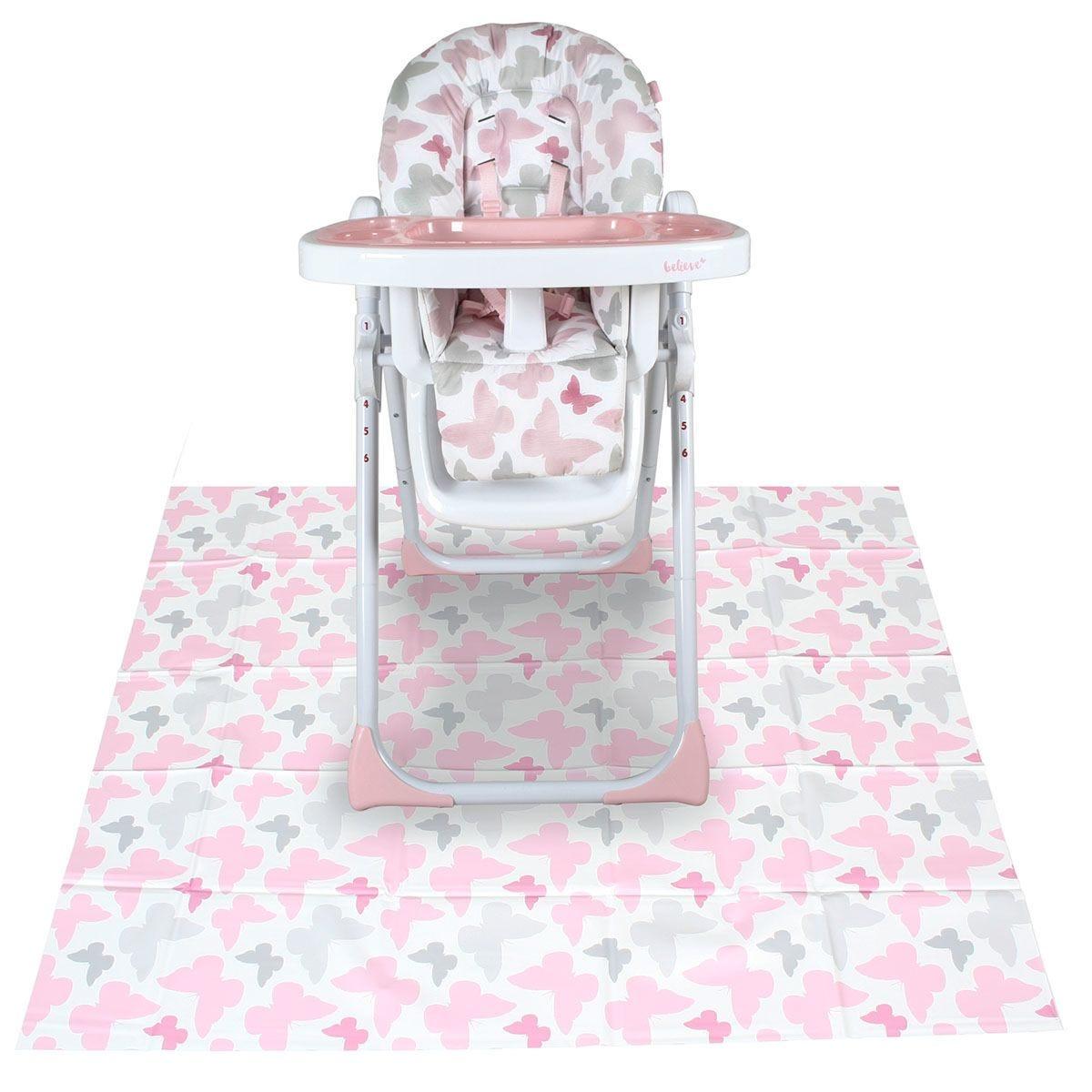 My Babiie Highchair Splash Mat - Pink Butterflies